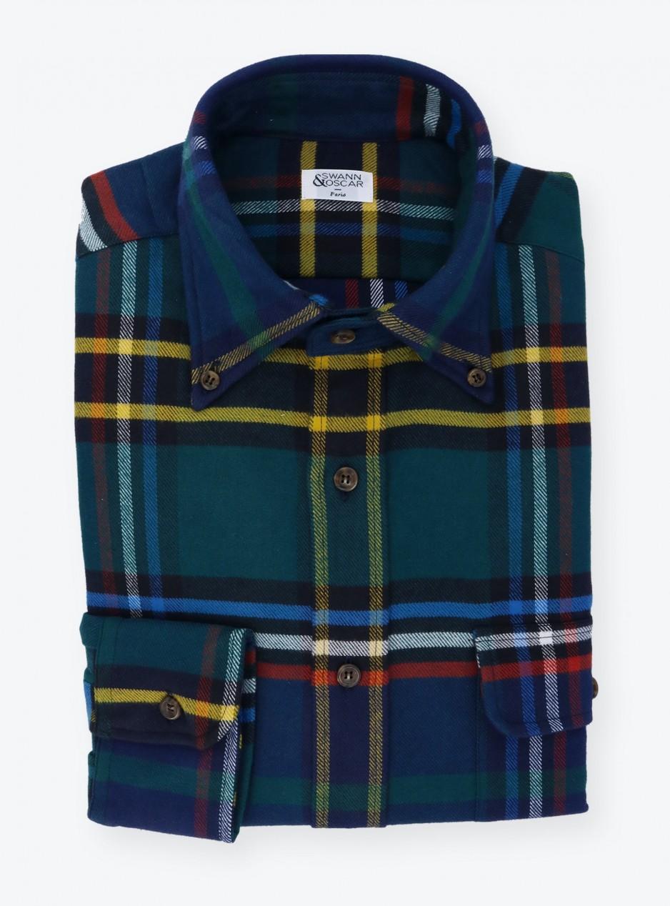 Blue Red Tartan Shirt
