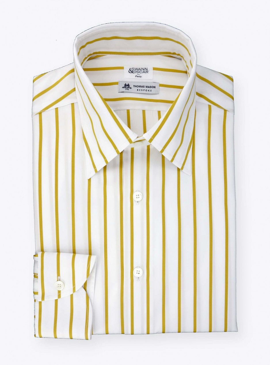 Shirt Poplin Stripes Yellow