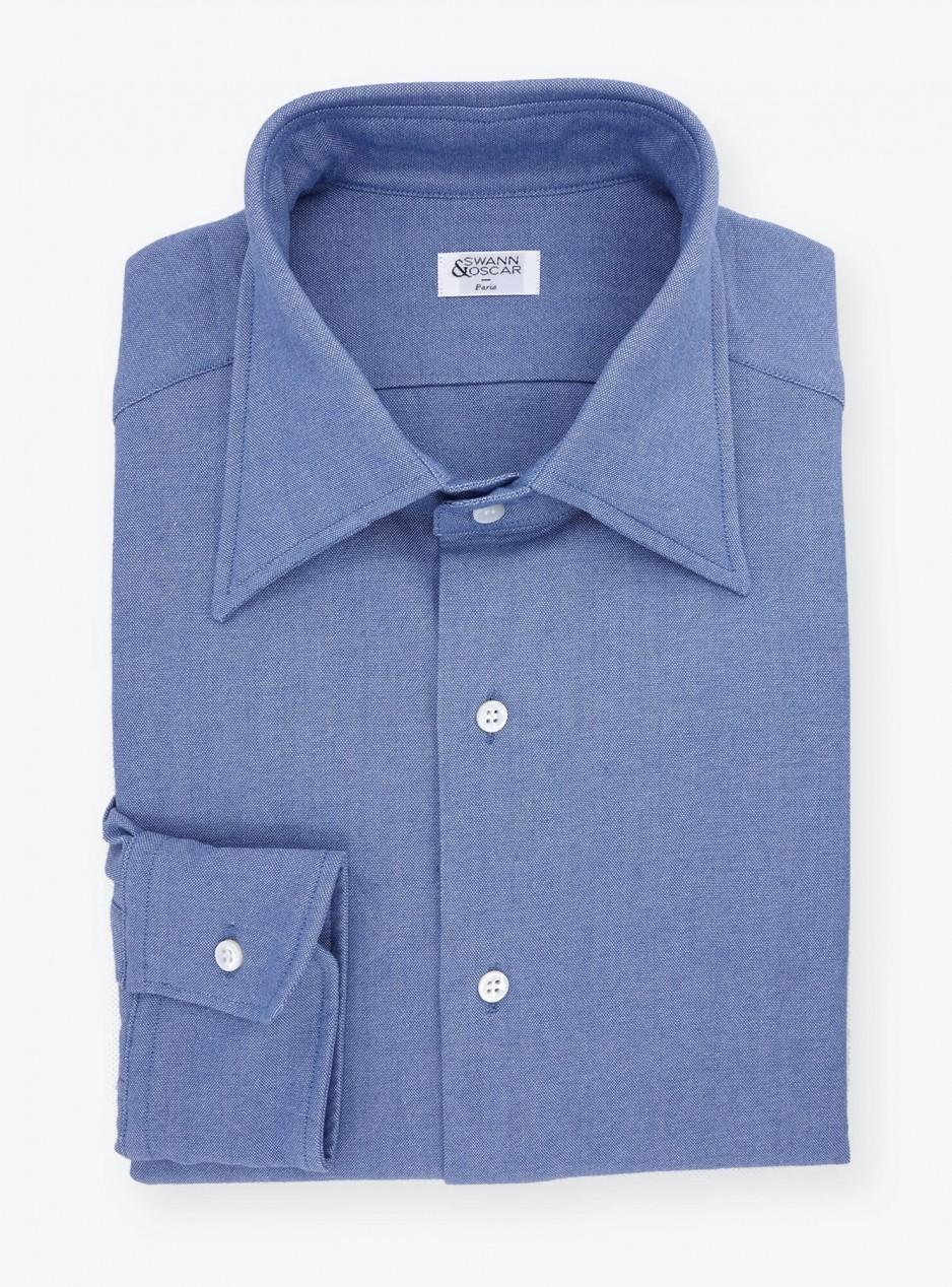 Plain Blue Chambray Shirt