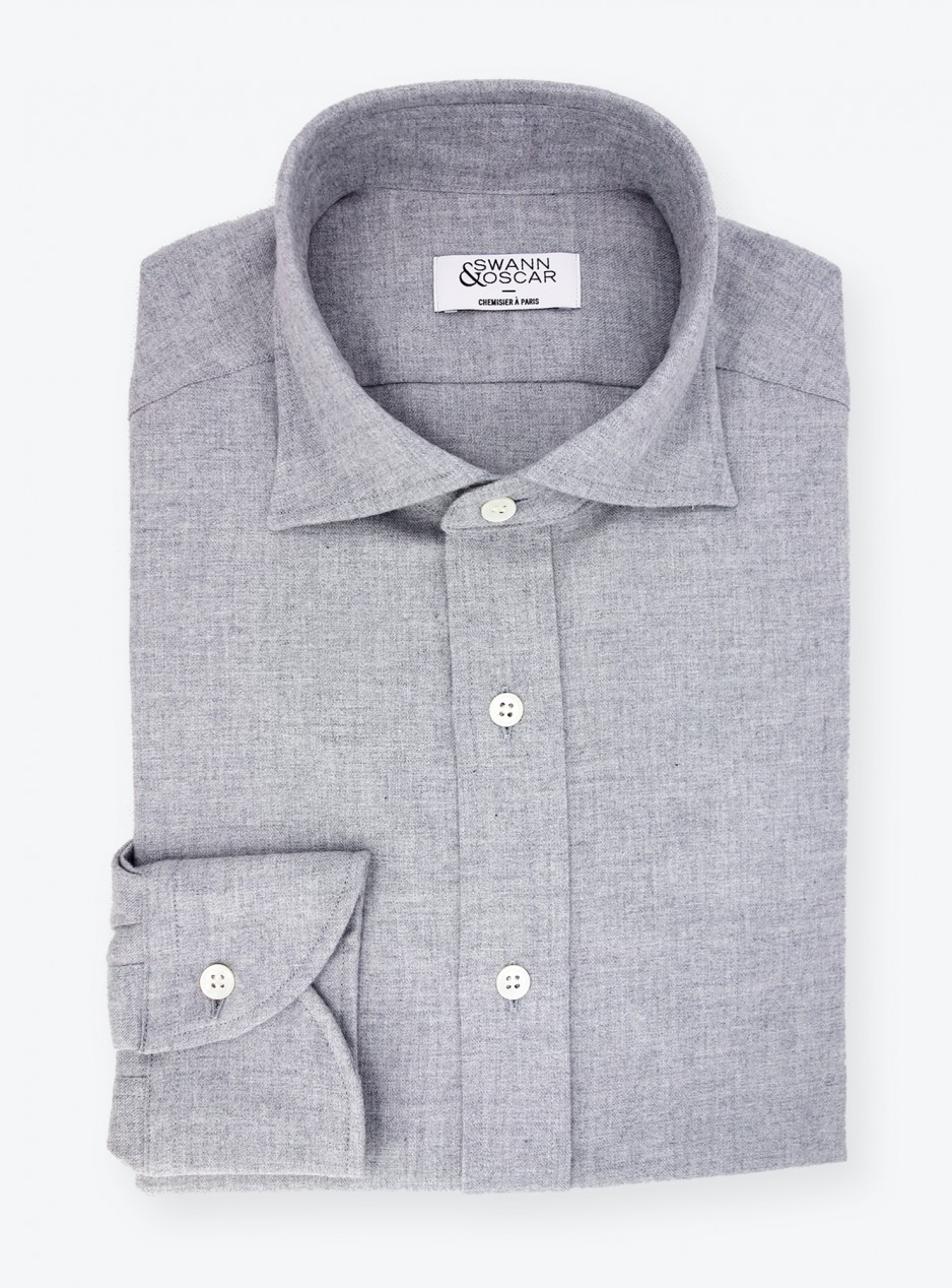 Shirt Twill Plain Grey
