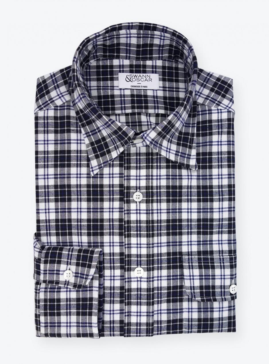 Flannel Shirt Black Checks