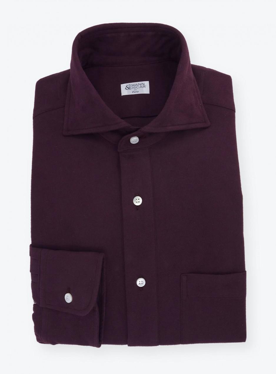 Plain Purple Flannel Shirt