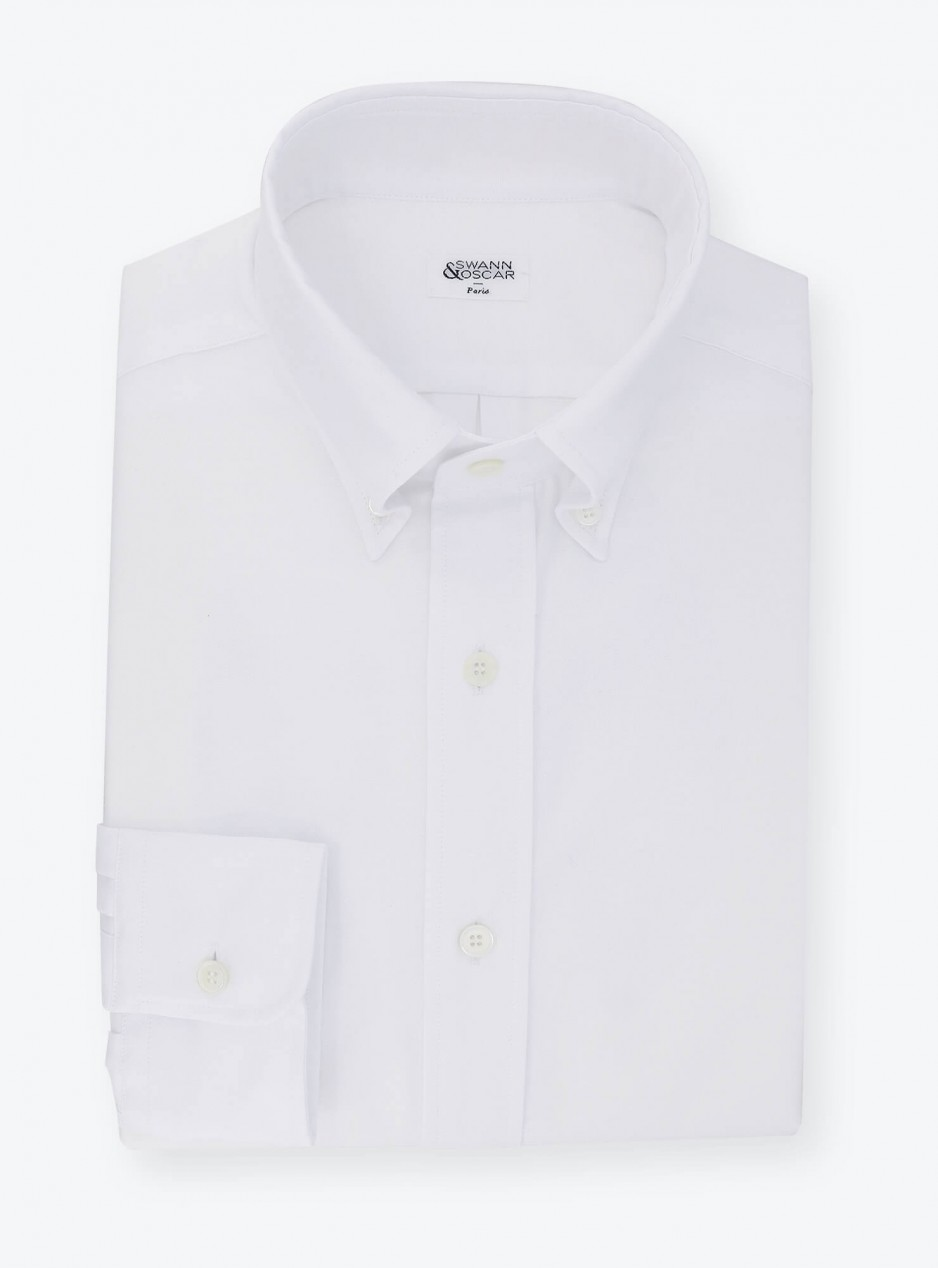 Plain White Oxford Shirt