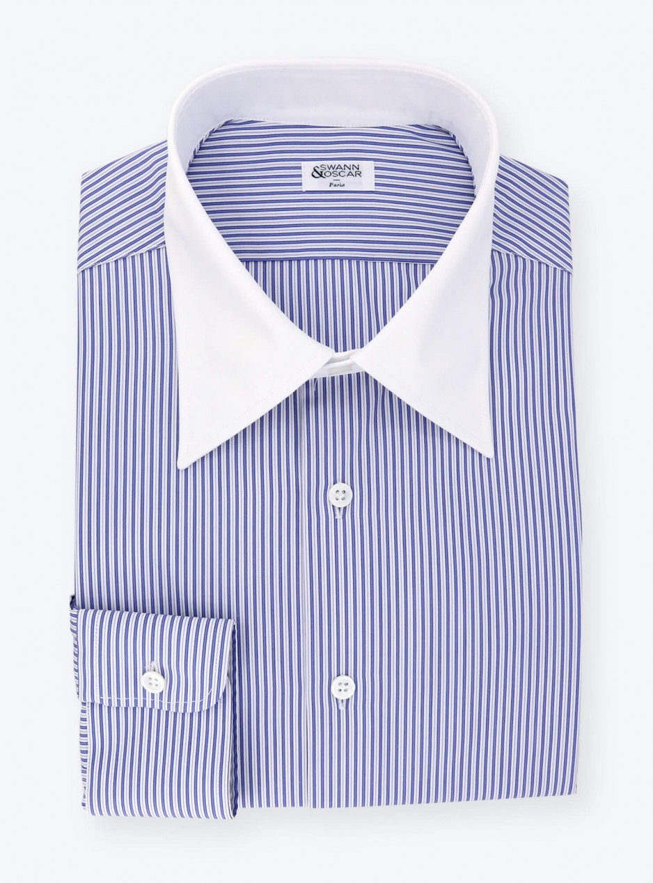 Blue Stripes Popelin Shirt