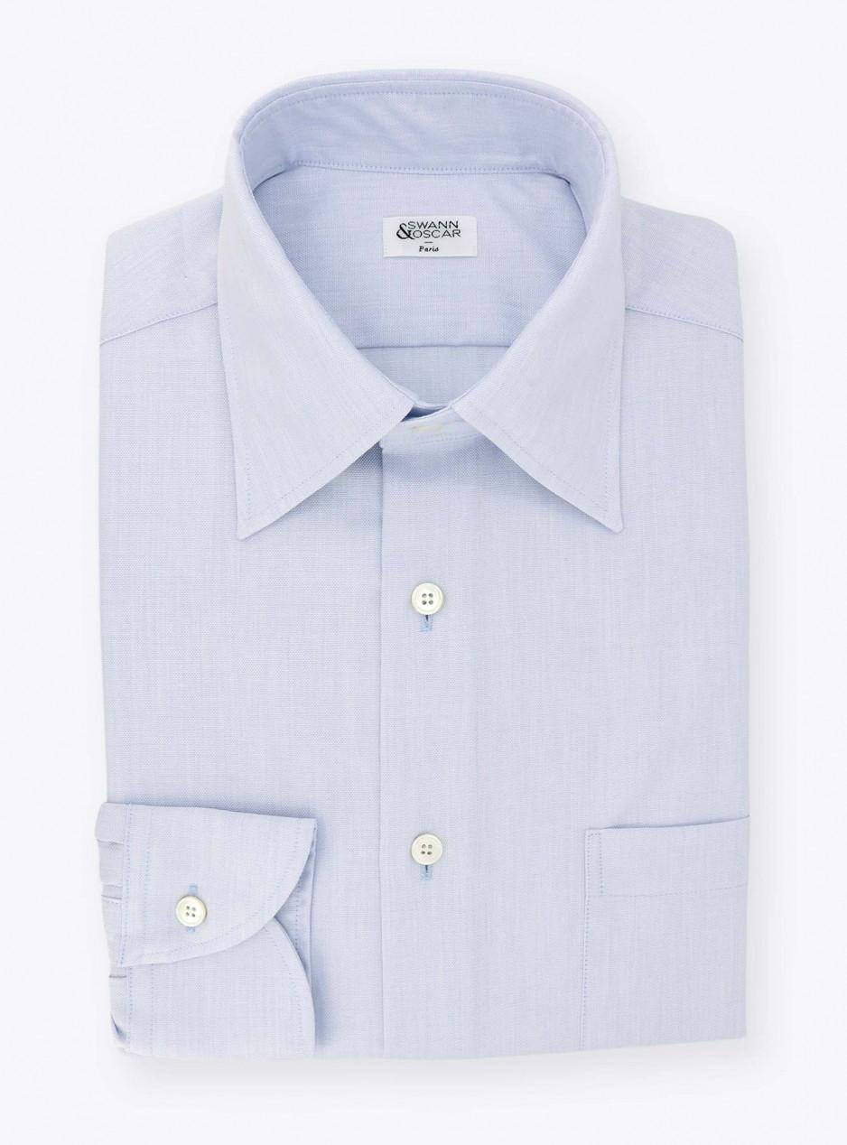 Shirt Plain Blue Oxford