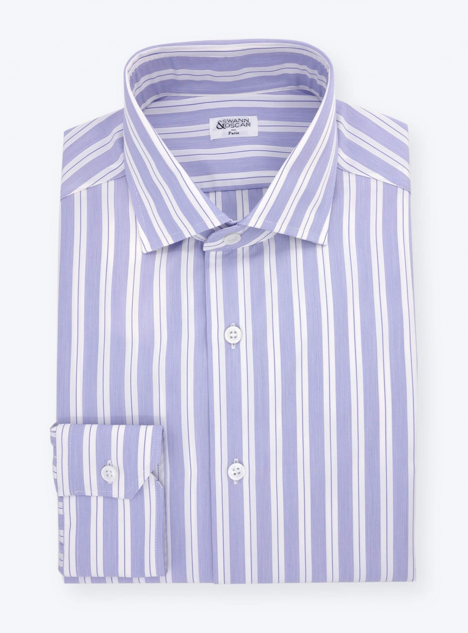 Blue Stripes Poplin Shirt