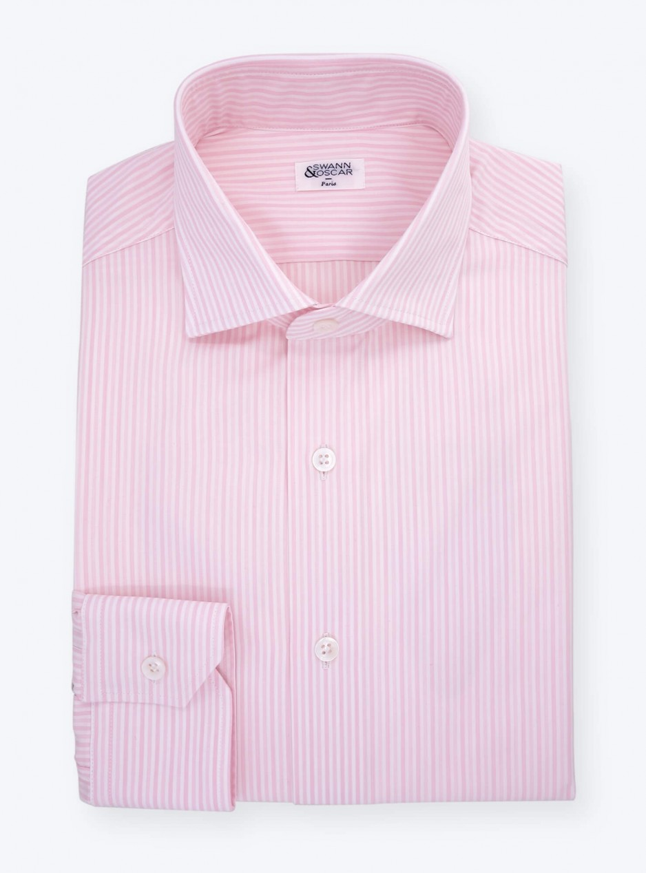 Pink Stripes Poplin Shirt