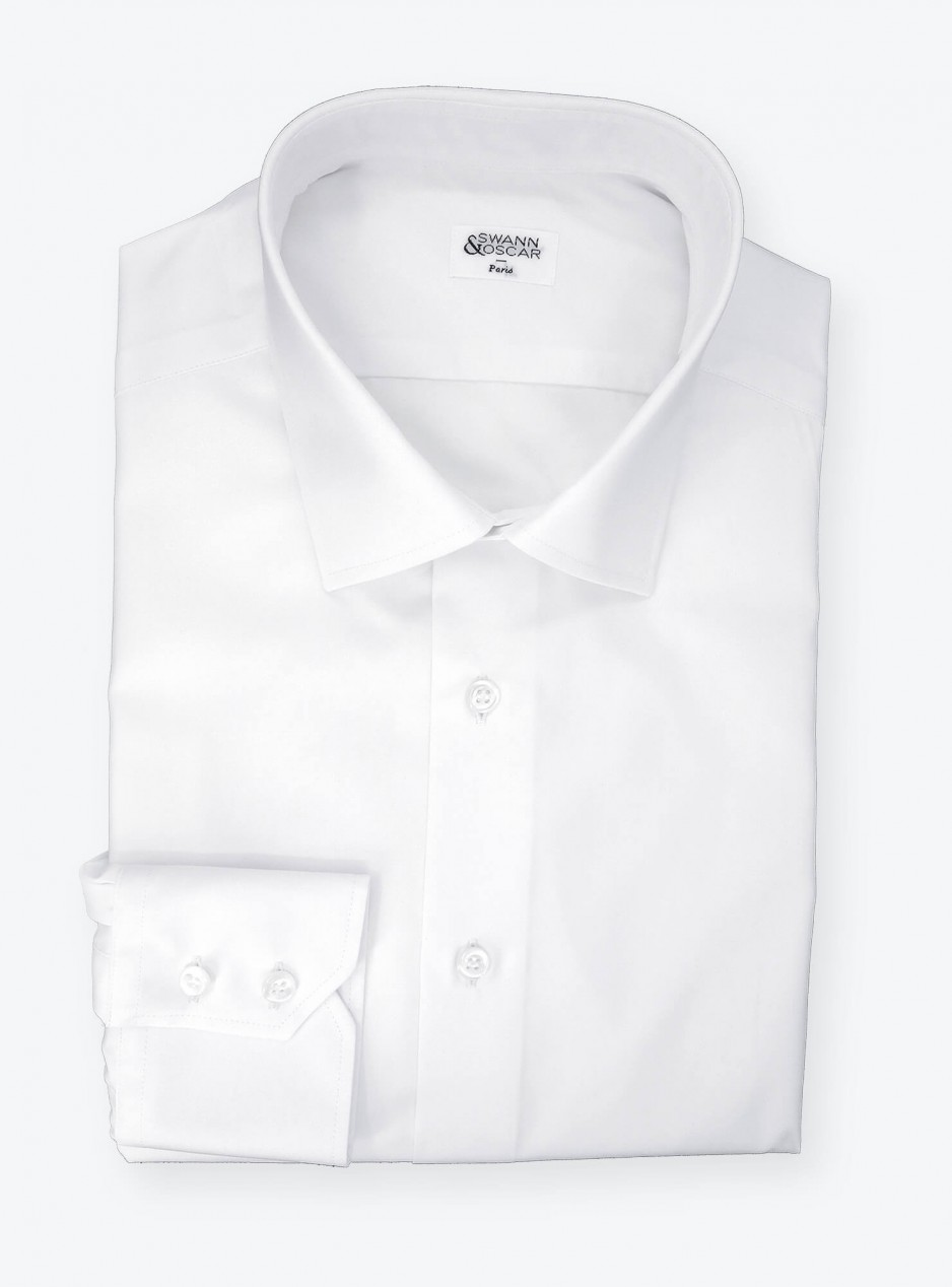 Shirt Poplin Plain White