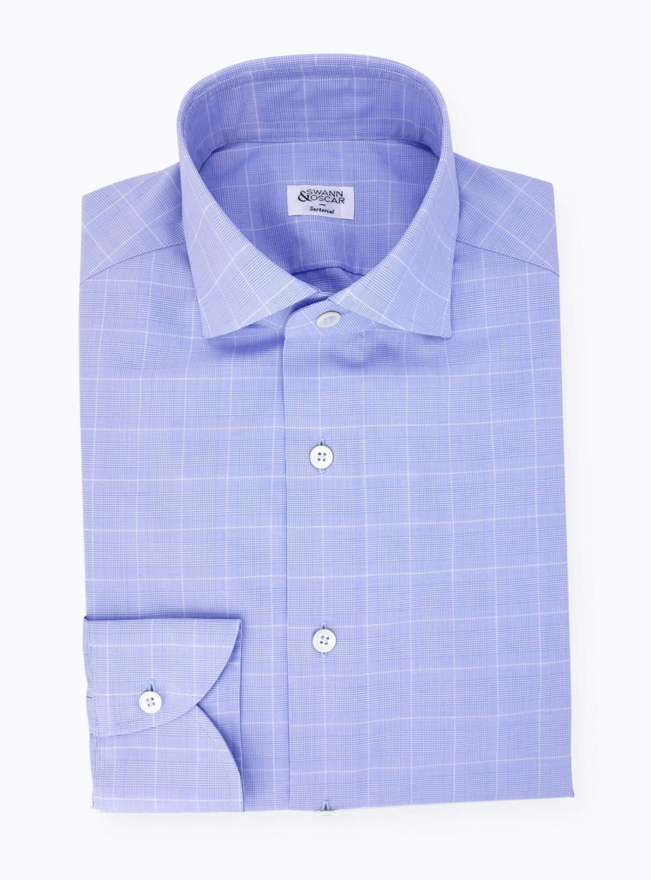 Blue Prince of Wales Shirt