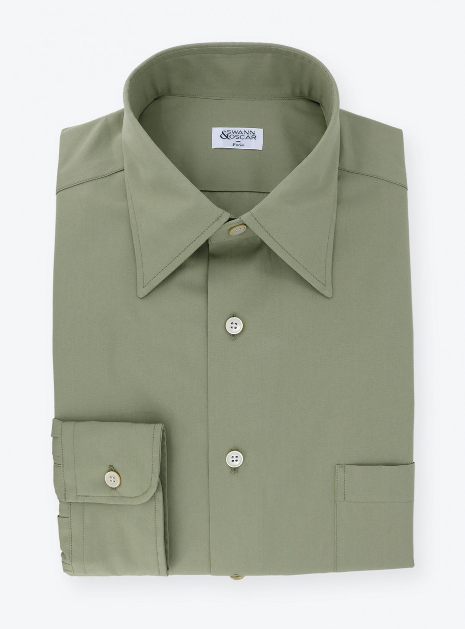 Shirt Poplin Plain Green