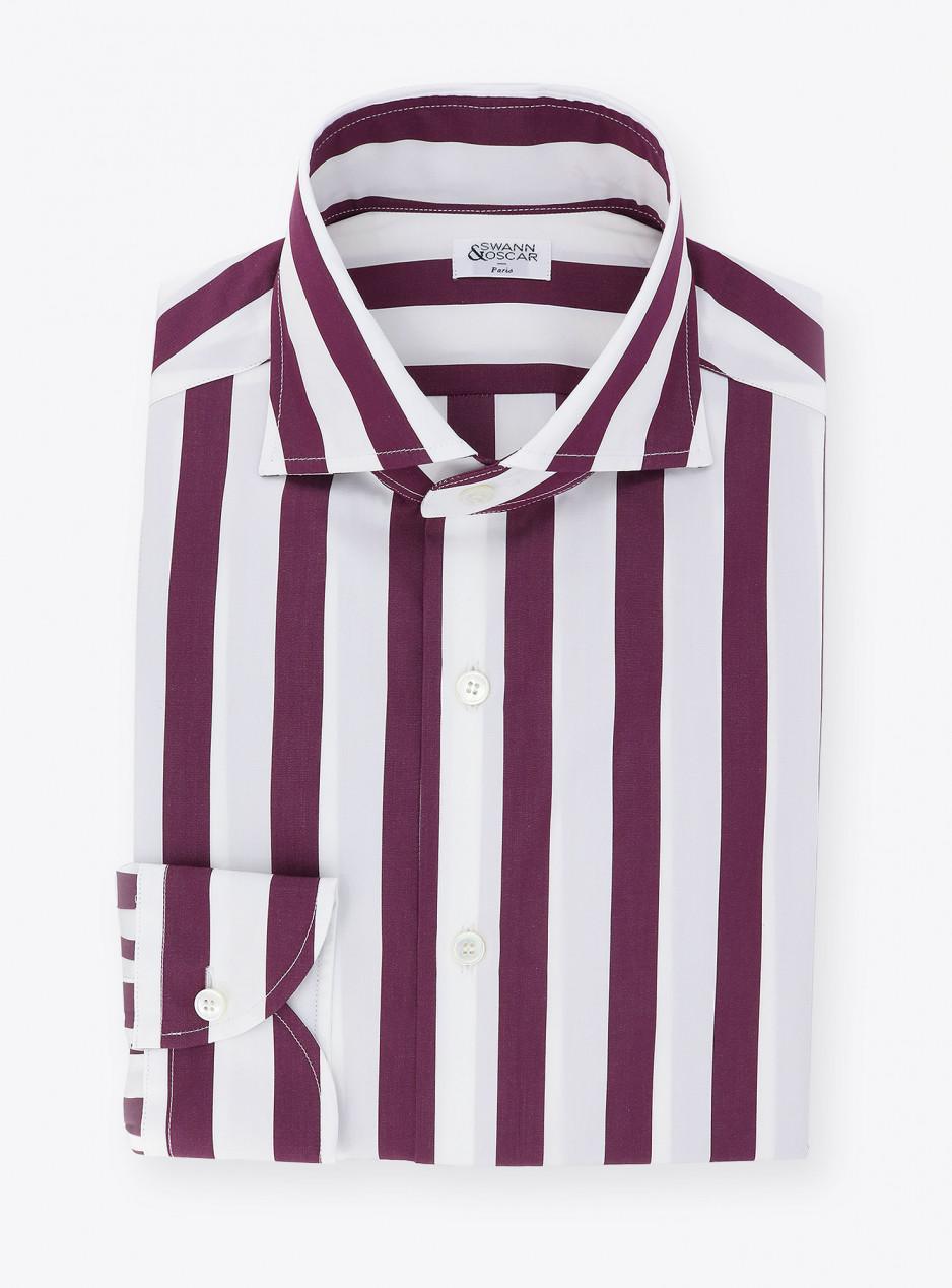 Shirt Poplin Stripes Purple