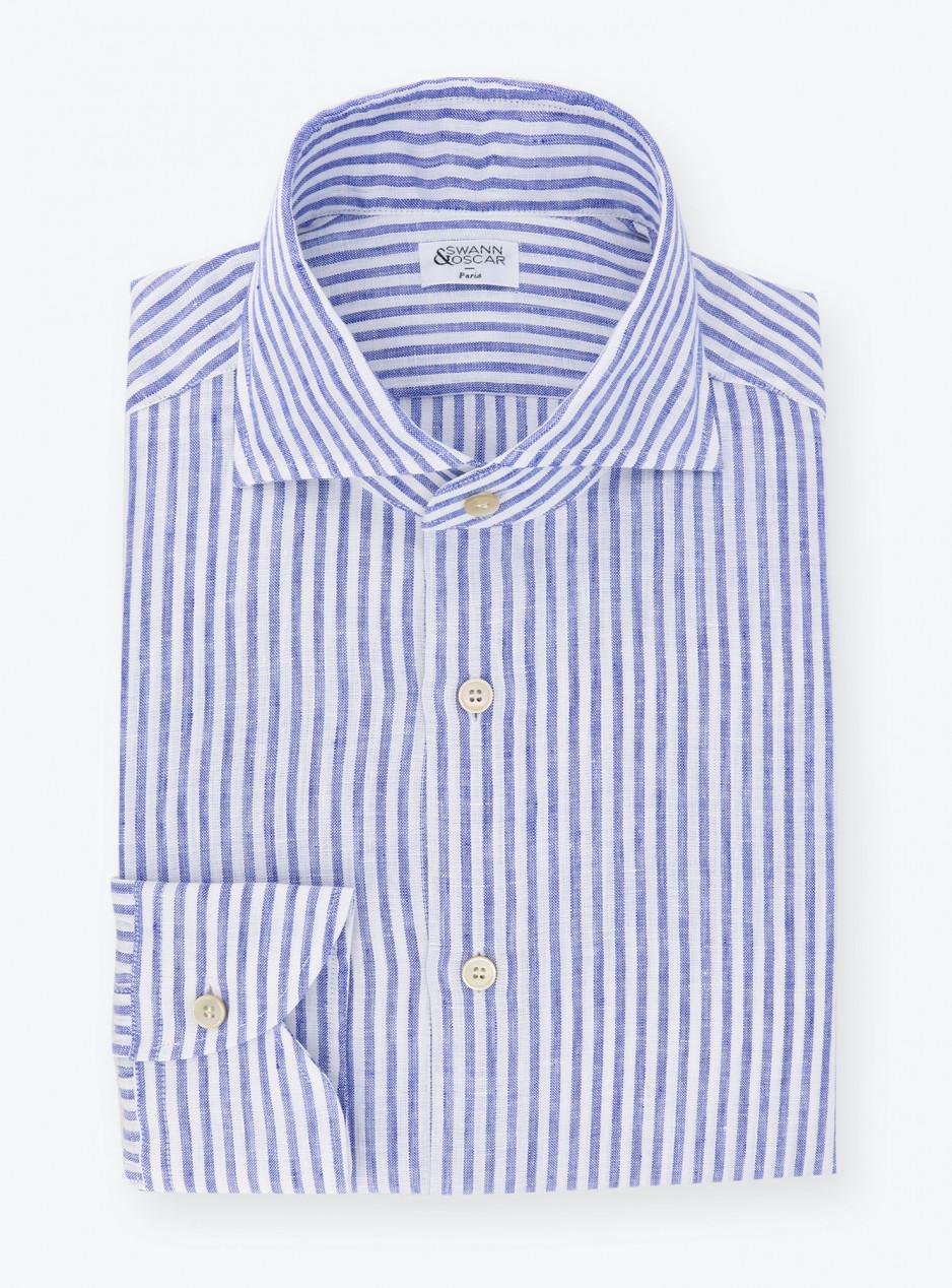 Blue Stripes Linen Shirt