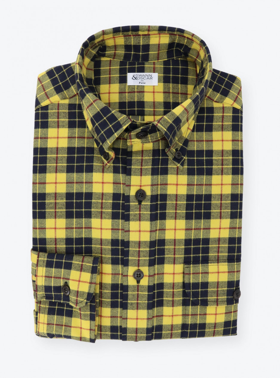 Yellow Black Tartan Shirt