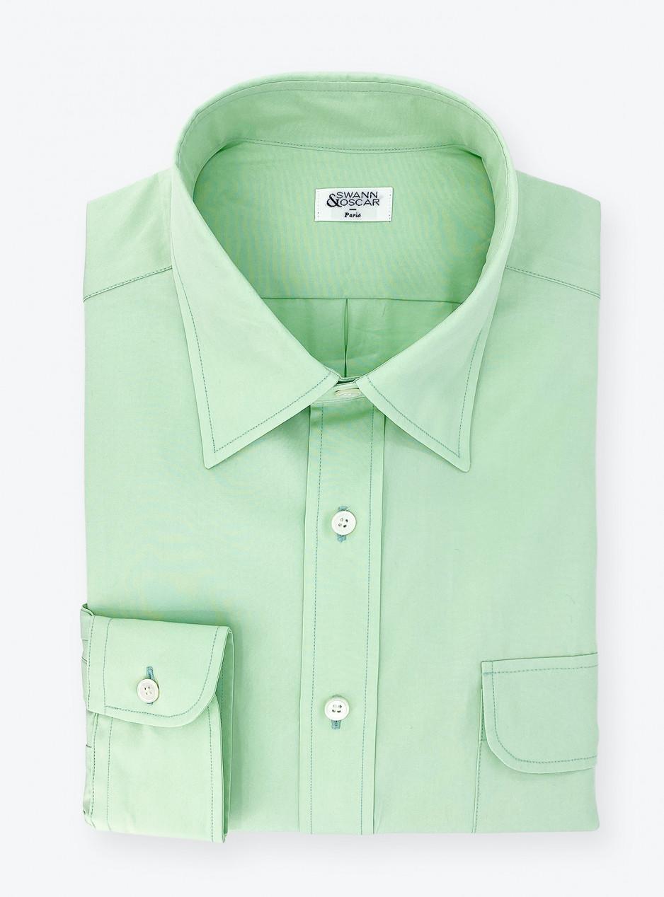 Menthol Poplin Shirt