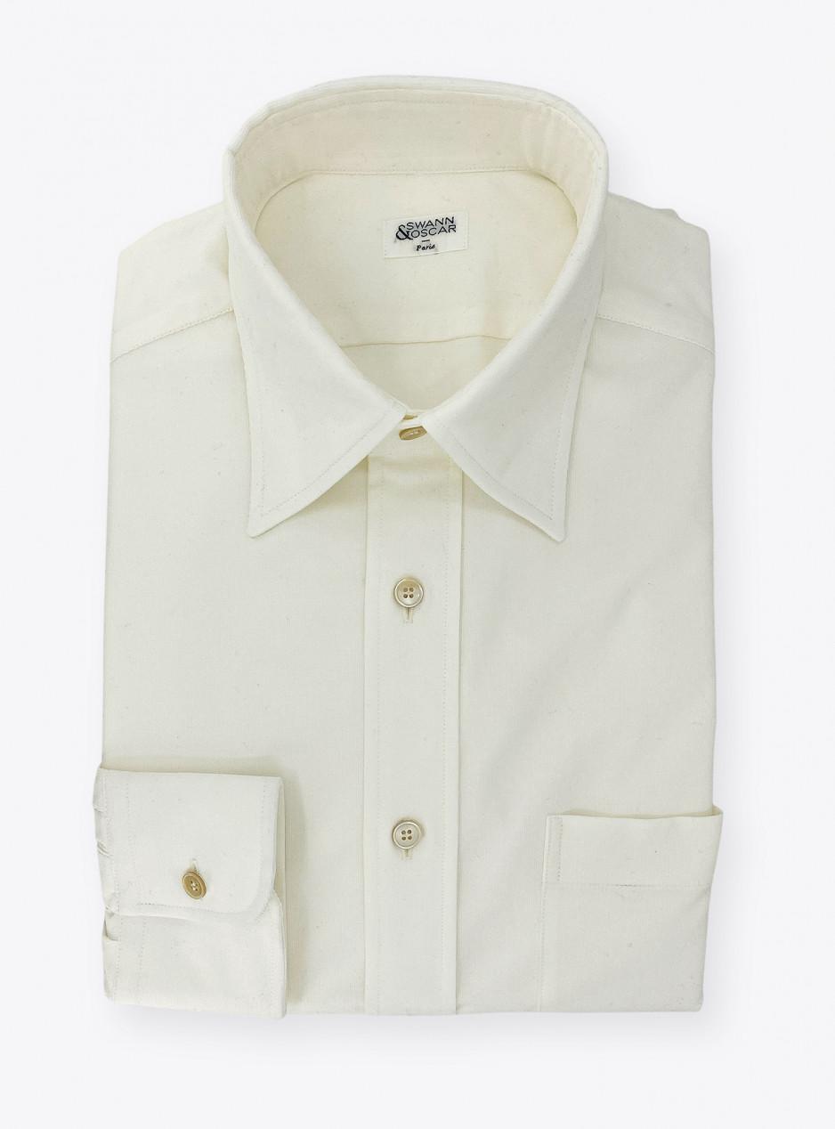 Shirt Corduroy Plain Ivory