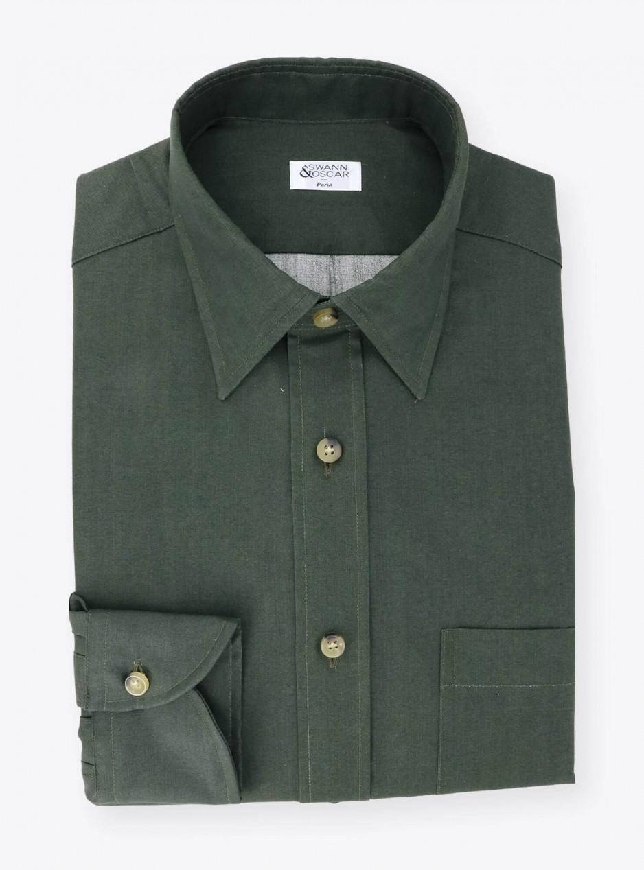 Plain Green Oxford Shirt