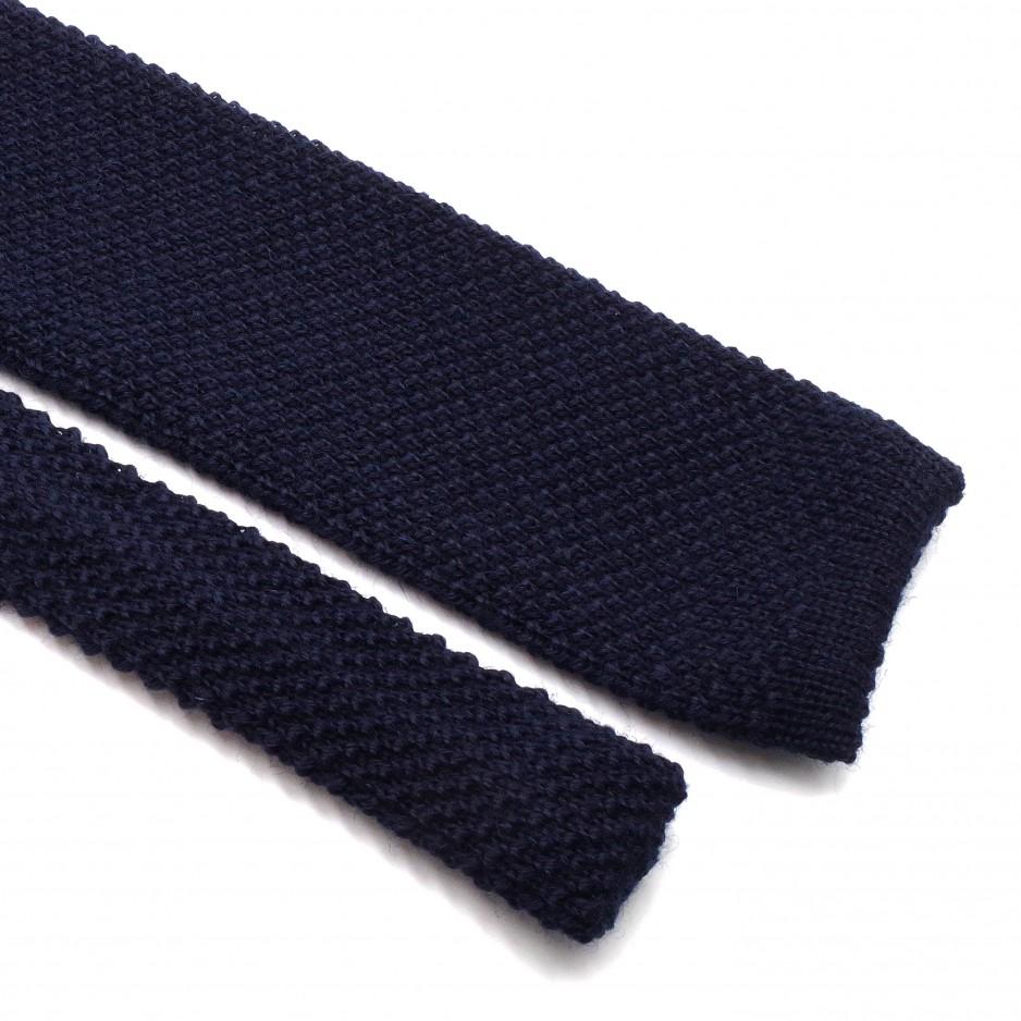 Blue Wool Fina Grenadine Tie