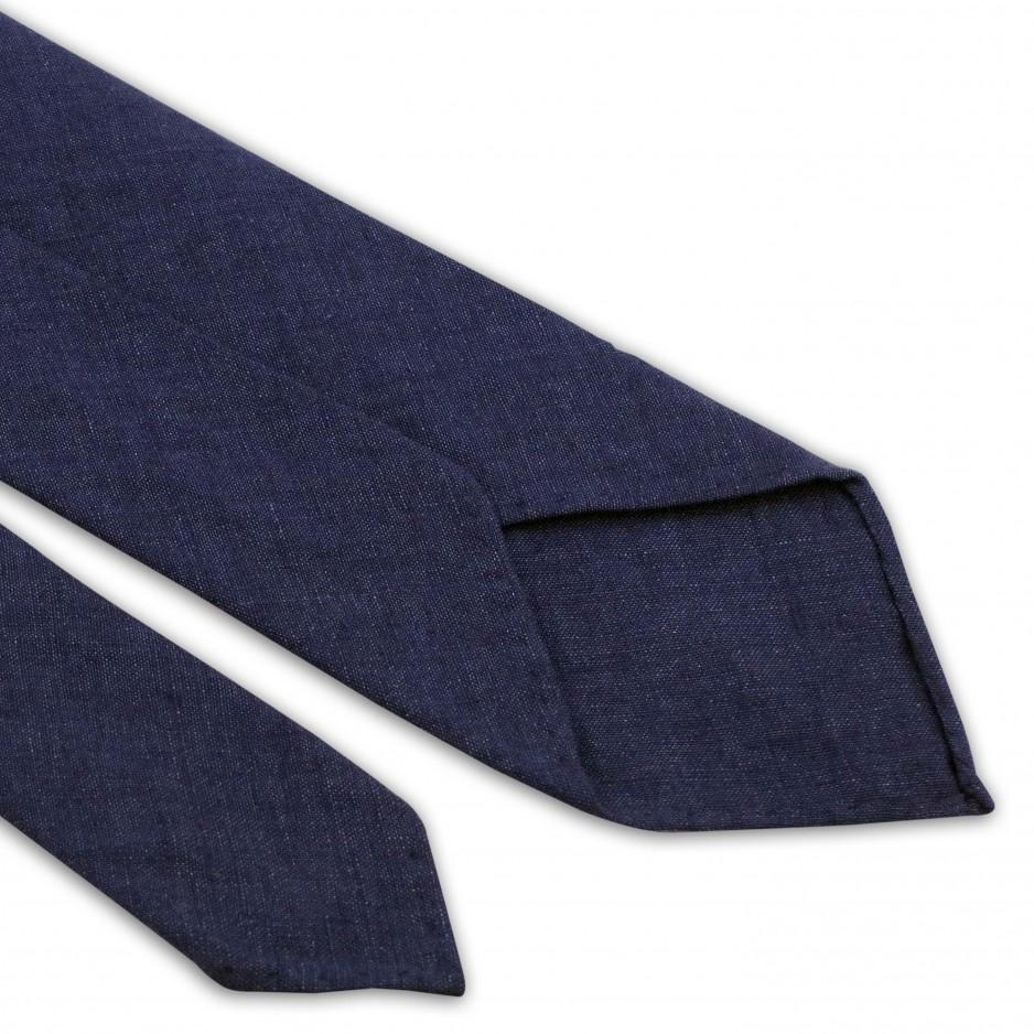 Blue Linen Tie