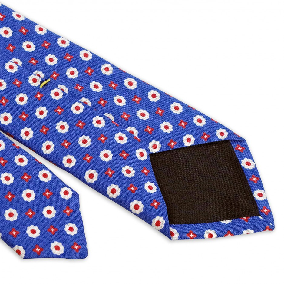 Tie Blue White Polka Dot Flowers Designs