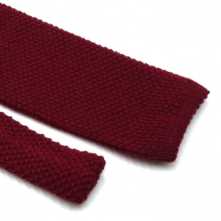 Burgundy Wool Fina Grenadine Tie