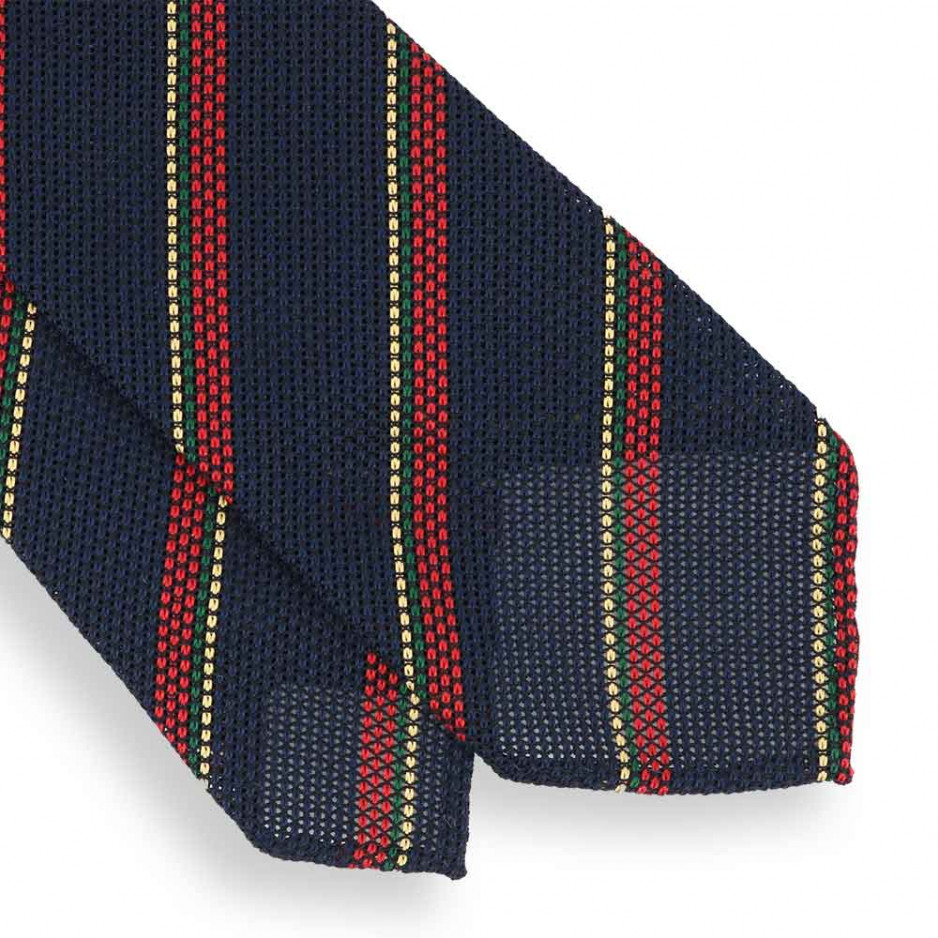 Navy Club Grenadine Tie unlined
