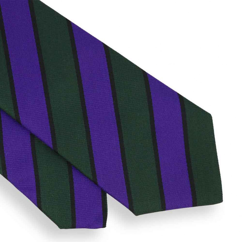 Green and Purple Club Tie