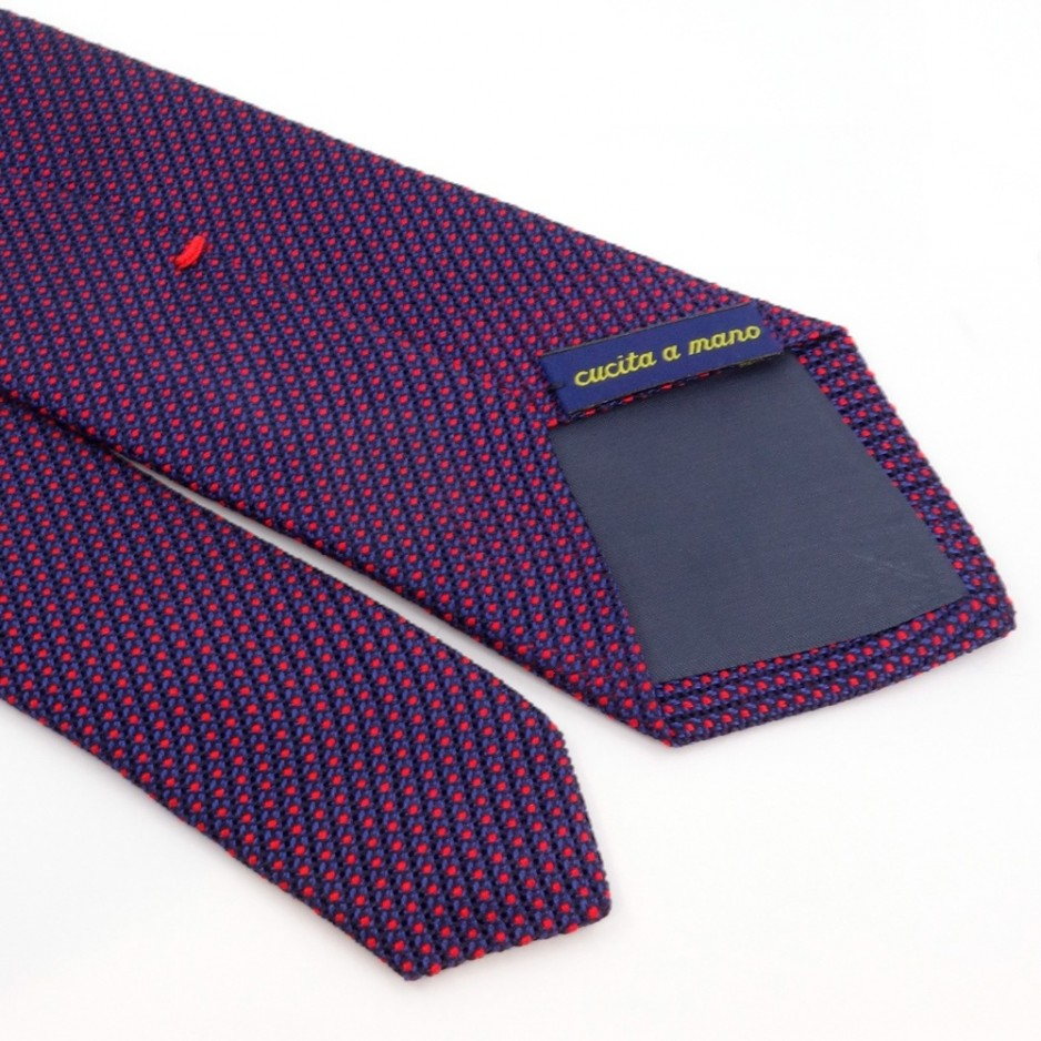 Blue and Red Tie