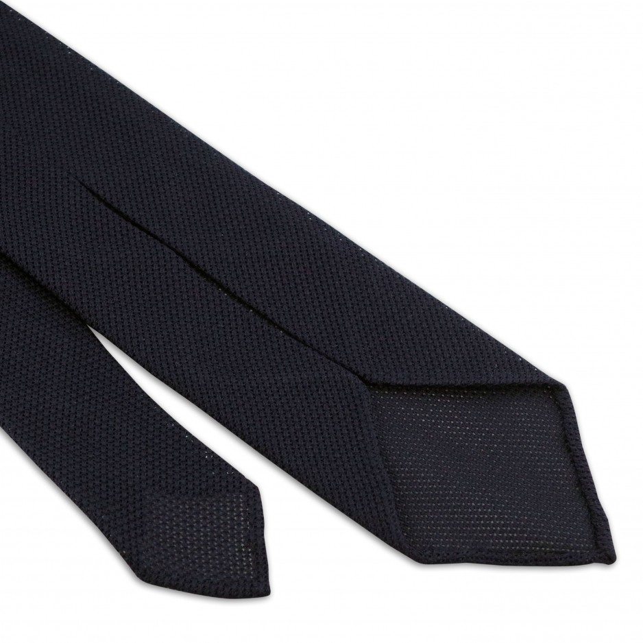 Grenadine Tie Blue Navy 7 folds