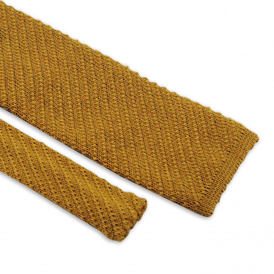 Knitted Tie Yellow