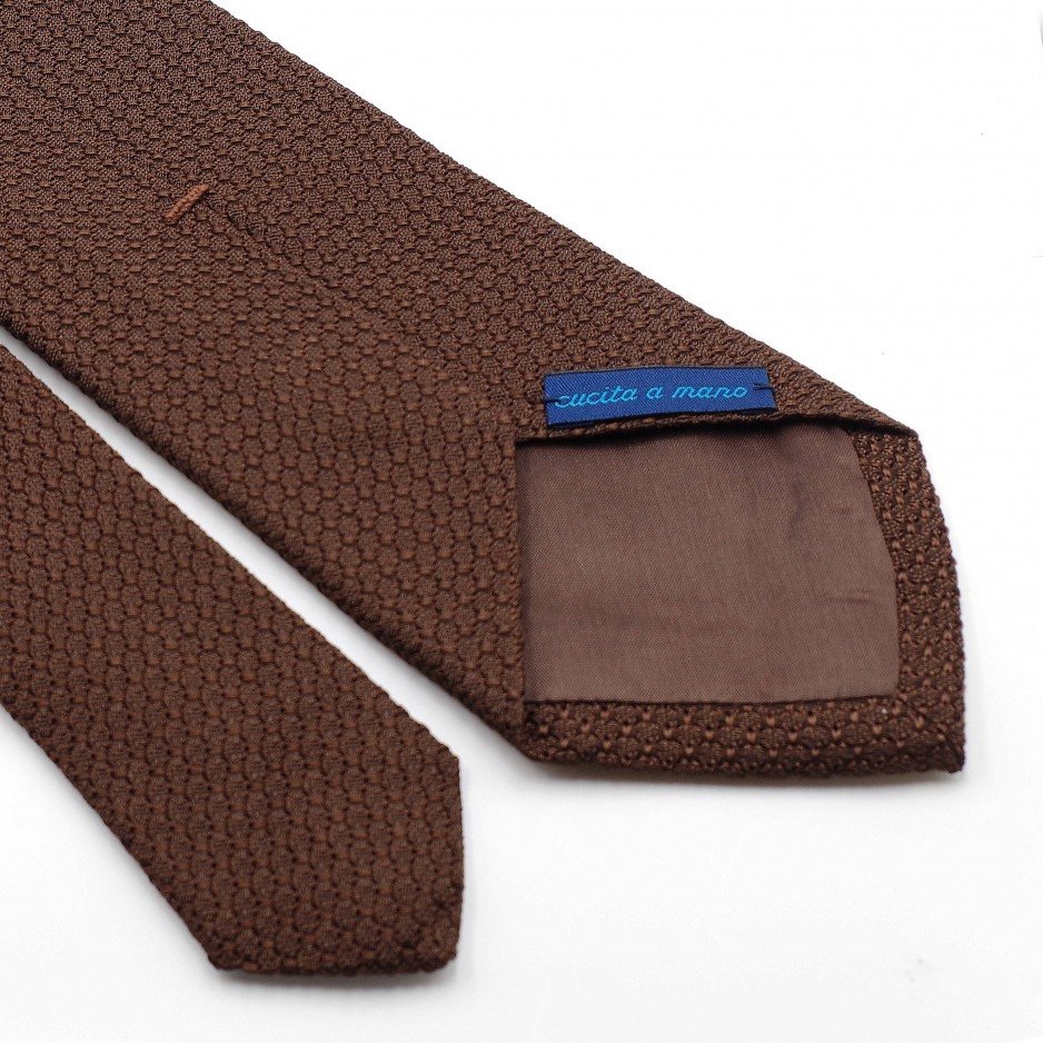 Grenadine «Garza Grossa» Silk Tie Brown