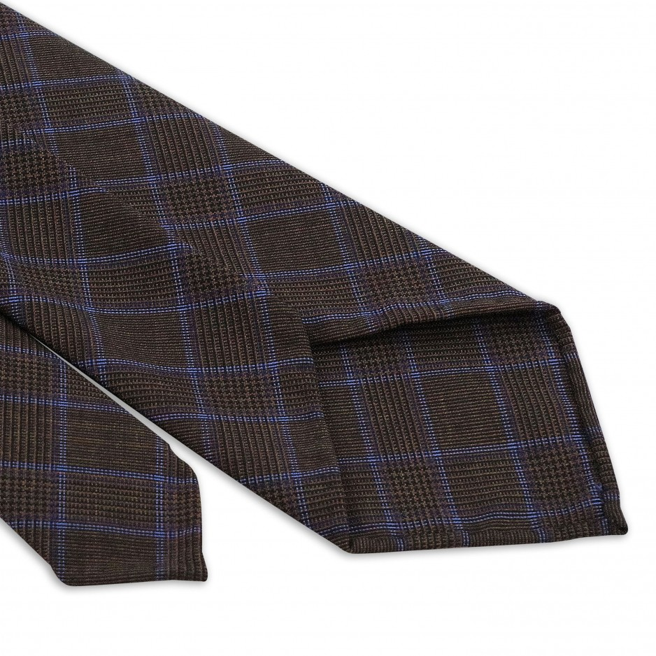 Brown Tie With Blue Luxury Stripes