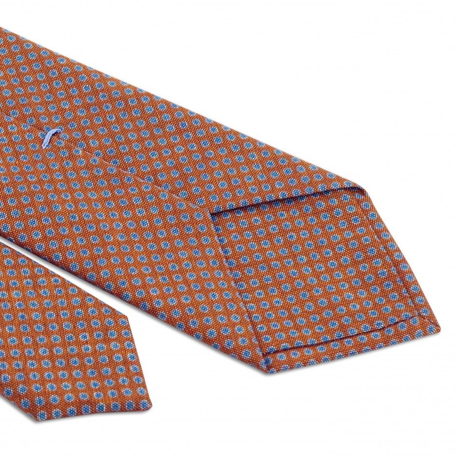 Tie Orange With Blue Points