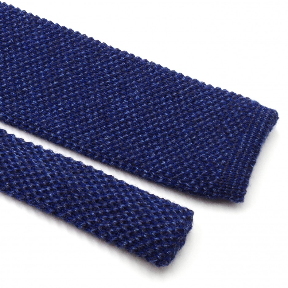 Mix of Blue Knitted Wool Tie