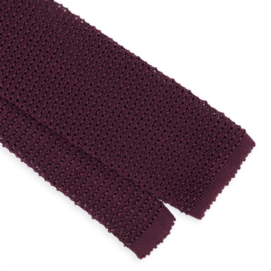 Plum Jersey Tie
