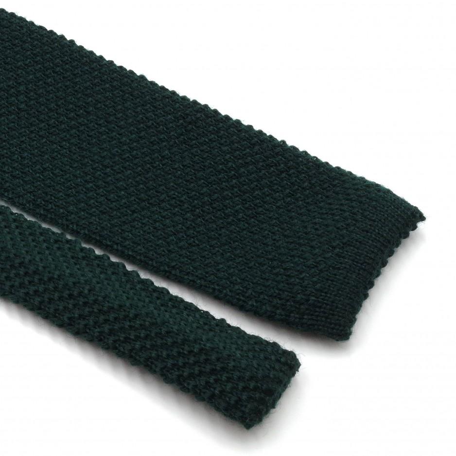 Green Wool Fina Grenadine Tie