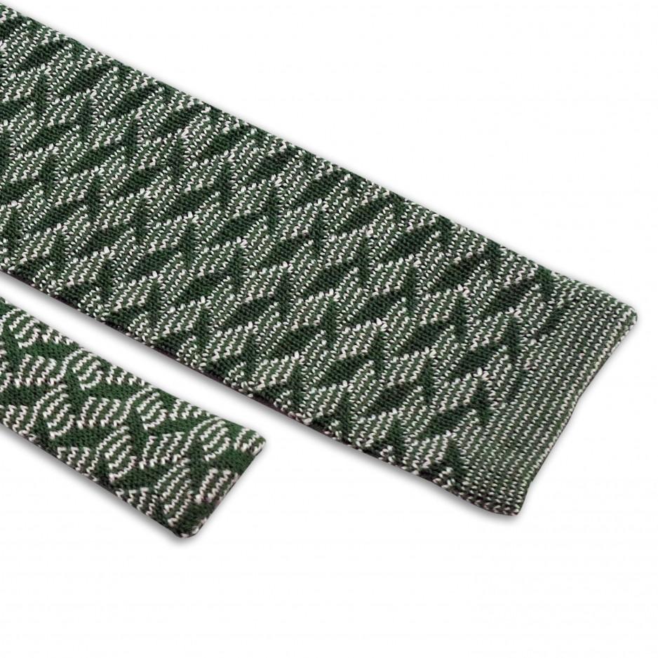 Green Tie Zigzag Patterns