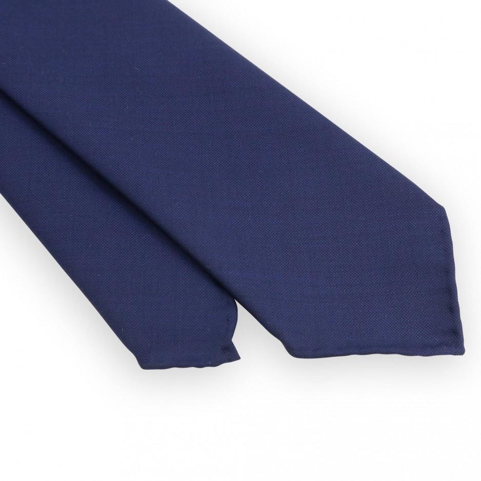 Navy blue 3 folds tie