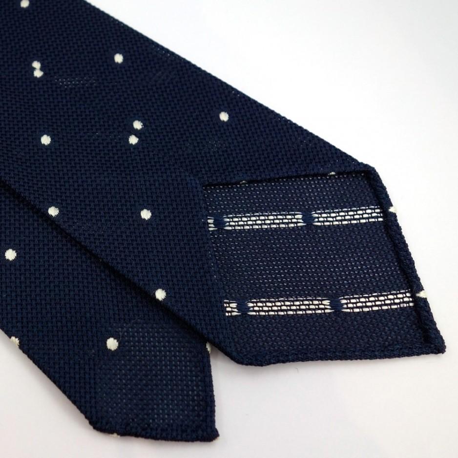 Grenadine Silk Tie with White Polka Dot