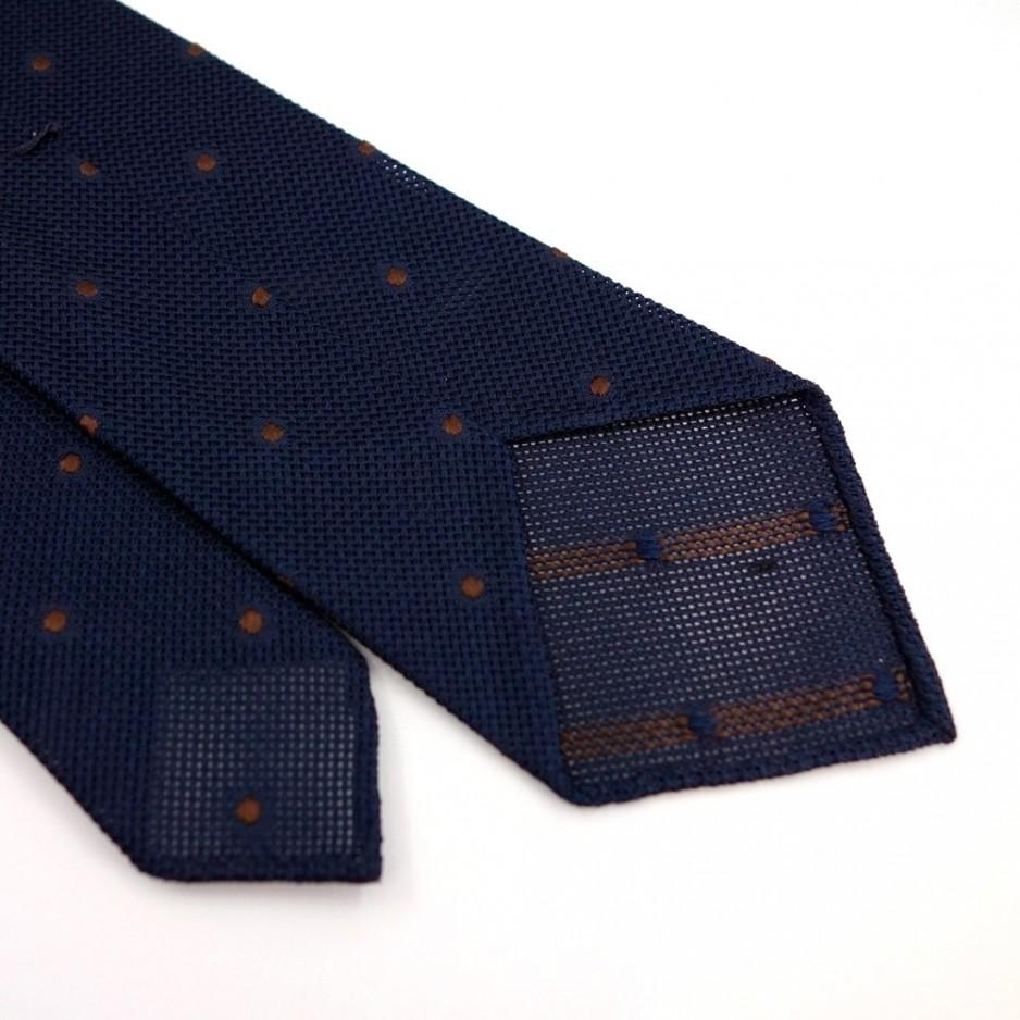 Grenadine Silk Tie with Brown Polka Dot