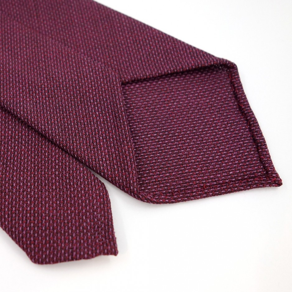 Red and Mauve Wool Tie