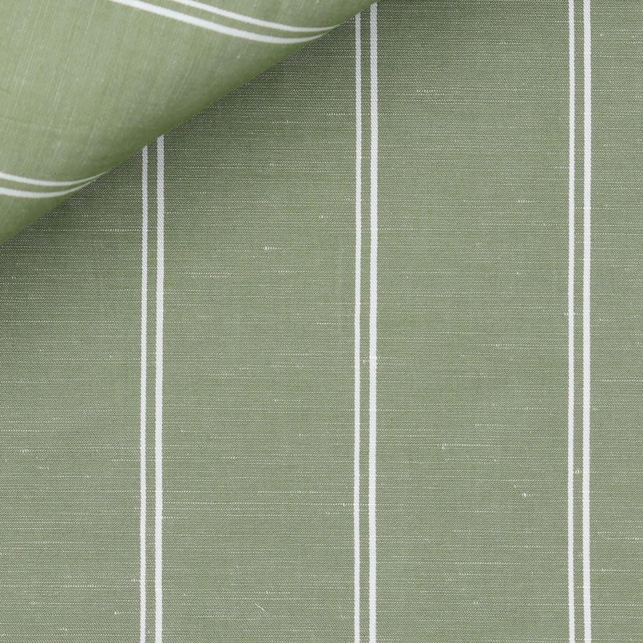 Linen Stripes Green