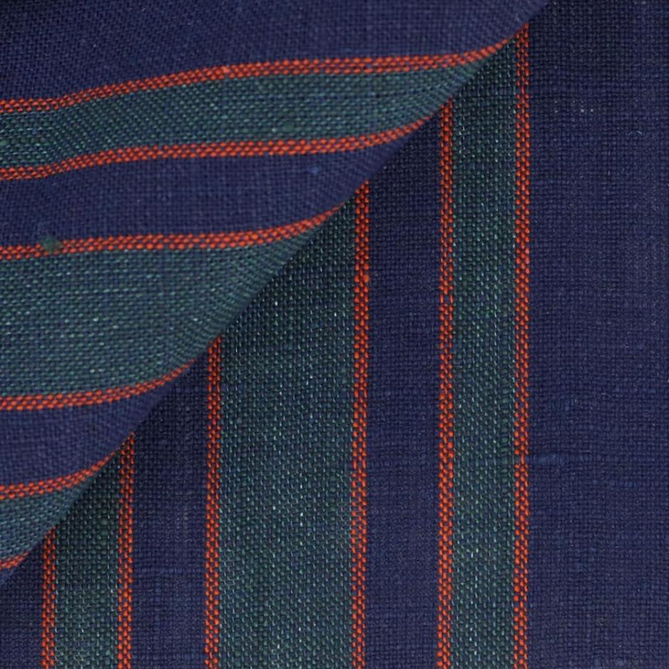 Linen Stripes Blue Green