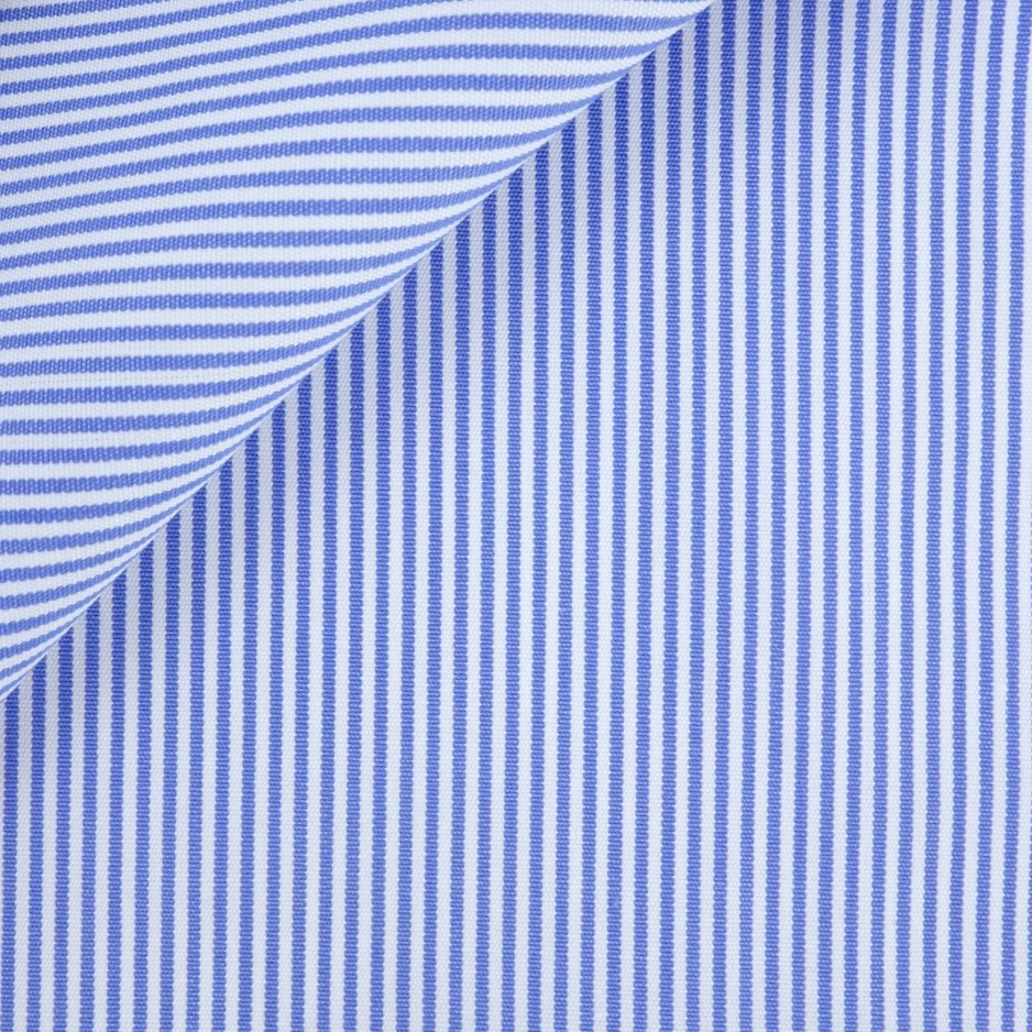 Poplin Stripes Blue White