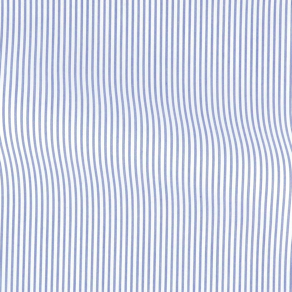 Poplin Stripes Blue White