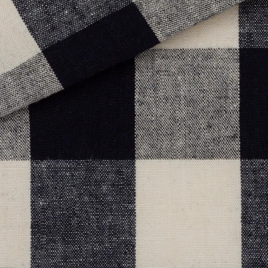 Linen Check Pattern Blue