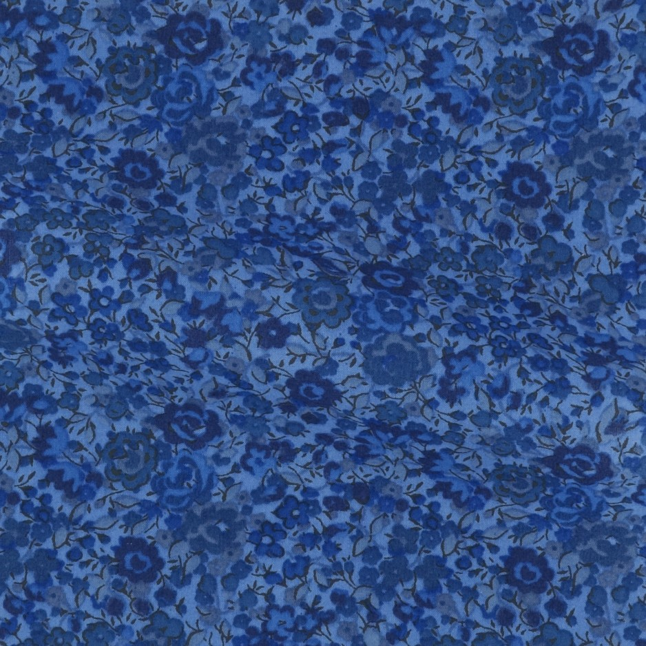 Poplin Pattern Blue