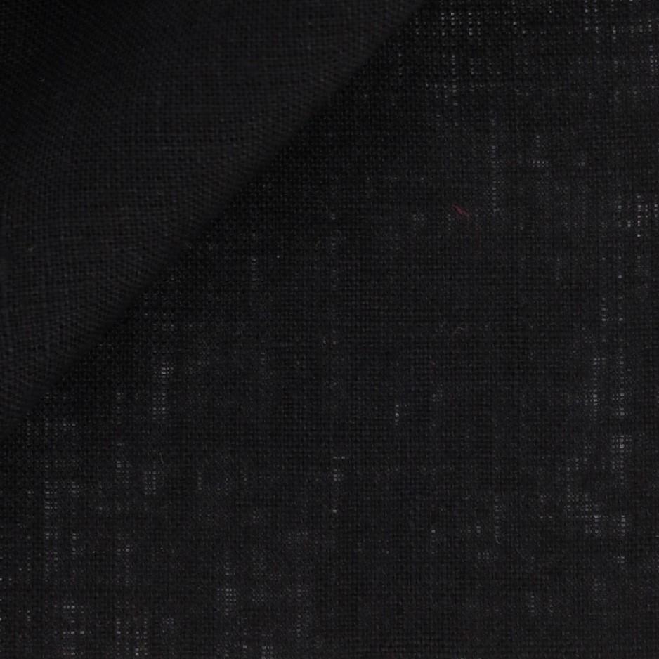 Linen Plain Black
