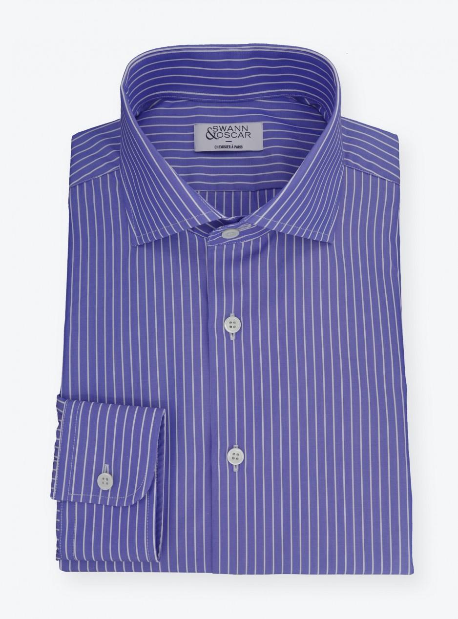 Shirt End on End Stripes Blue