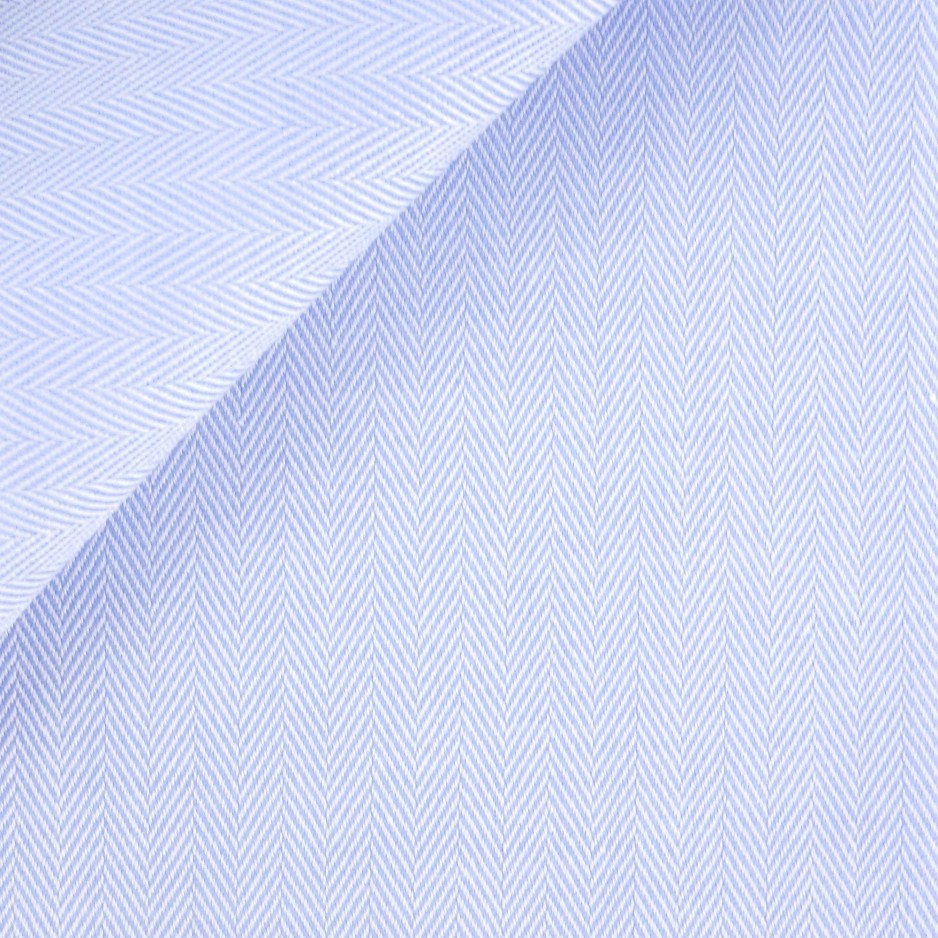 Herringbone Plain Blue