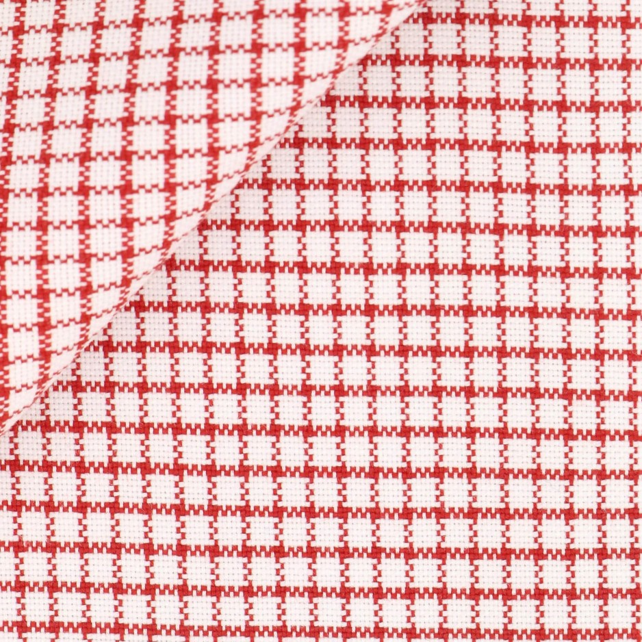 Oxford Check Pattern Red